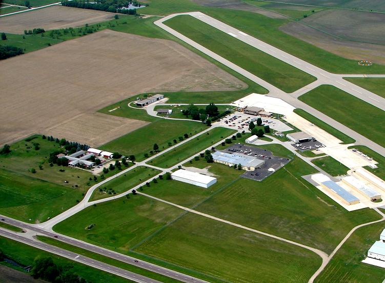 Aerial of Mason City Airport